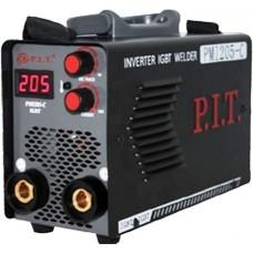 Сварочный аппарат-инвертор P.I.T PMI 205-C IGBT (250A, ПB=70%, Ф.1,6-4мм.эл-д, 6,1 кВт,форсаж дуги, 3.8кг)